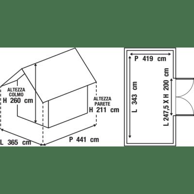 Garage in metallo Orlando, 16,1 m²