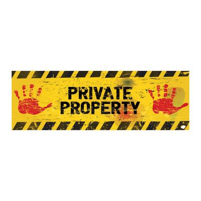 quadro su tela Private property 20x60