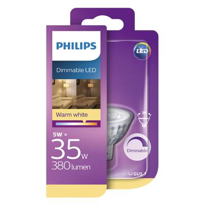 Lampadina LED Philips GU5.3 =35W luce calda 36°