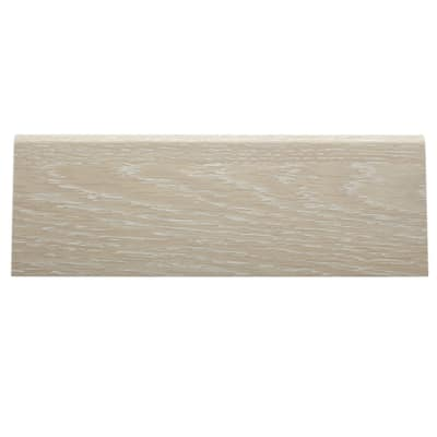 Battiscopa carta finish rivestito rovere sbiancato 15 x 70 x 2400 mm