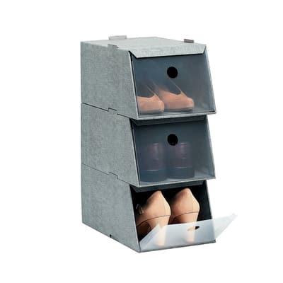 Set 3 Scatole Scarpe L 21 5 X H 16 X P 34 Cm Prezzi E Offerte Online