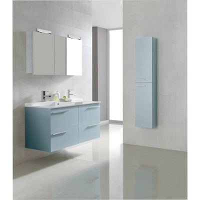 Colonna Elea blu chiaro 2 ante L 30 x H 150 x P 24 cm