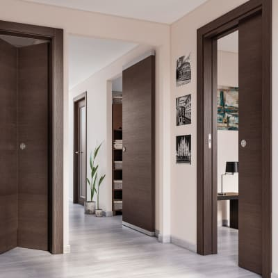 Porta da interno scorrevole timber easy binario nascosto for Porta scorrevole esterna leroy merlin