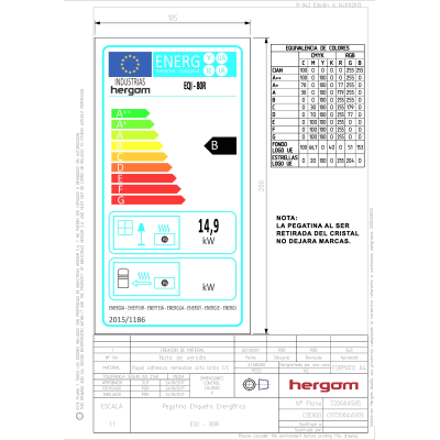 Inserto Equation 80 - EQI 80 a legna