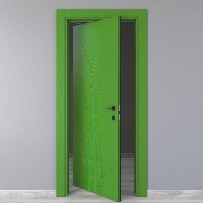 Porta da interno rototraslante Blades green verde 70 x H 210 cm sx