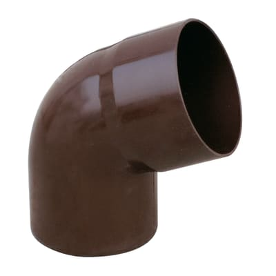 Curva pluviale in plastica Ø 63 mm, 67°