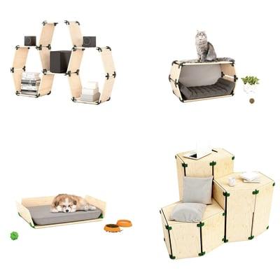 Connettore Playwood 105° per pannelli in legno in plastica hi-tech verde confezione 4 pezzi