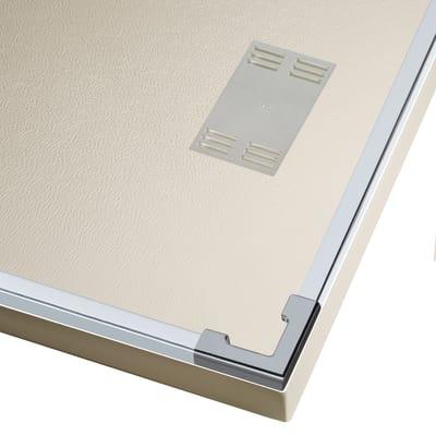 Doccia con porta scorrevole e lato fisso Neo 122 - 126 x 77 - 79 cm, H 200 cm vetro temperato 6 mm trasparente/silver