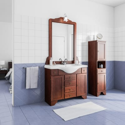 Mobile bagno laura marrone l 99 5 cm prezzi e offerte online leroy merlin - Offerte mobili bagno leroy merlin ...
