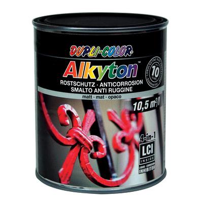 Smalto per ferro antiruggine Alkyton nero RAL 9005 opaco 0,75 L