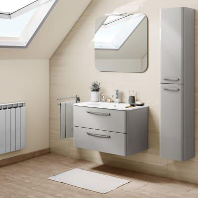 Mobile bagno Best grigio L 81 cm
