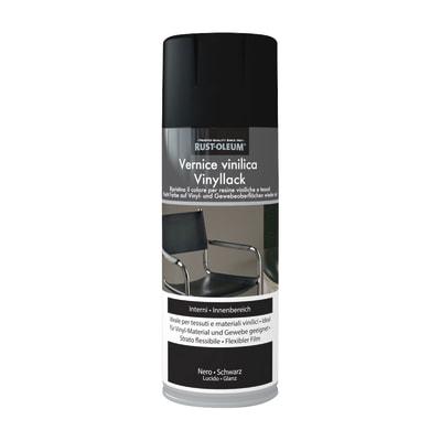 Smalto spray Rustolium per plastica nero brillante 400 ml