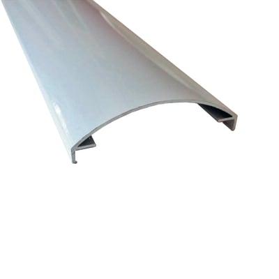 Profilo perimetrale ReadyBlock GlassCover curvo satinato alluminio 2,5 m, 8,53 x 2,33 cm