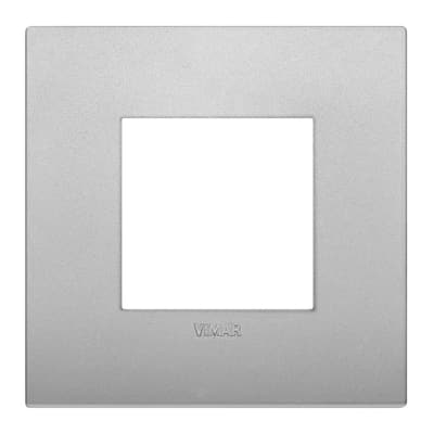 Placca 2 moduli Vimar Arké silver matt