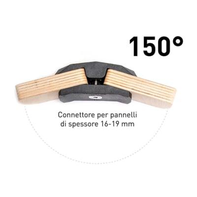 4 connettori playwood 150 per pannelli in legno in for Pannelli in legno lamellare prezzi