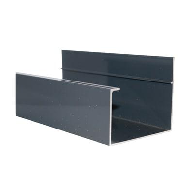 Grondaia in alluminio 400 x 10  cm, spessore 2 mm