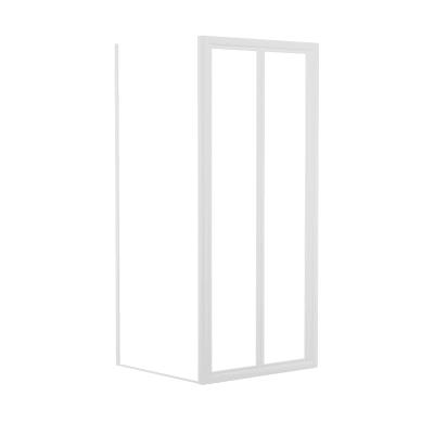 Doccia con porta pieghevole e lato fisso Elba 72 - 78 x 78 - 82 cm, H 185 cm acrilico 3 mm stampato