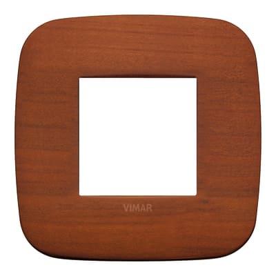 Placca 2 moduli Vimar Arké ciliegio