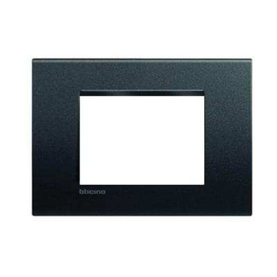 Placca 3 moduli BTicino Livinglight antracite