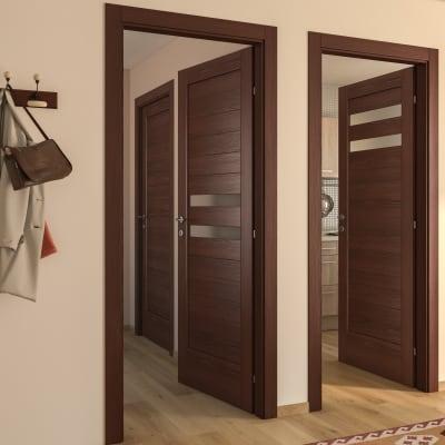 Porta da interno battente Malawi 2 60 x H 210 cm sx