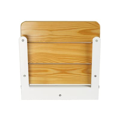 Sedile doccia ribaltabile in acciaio e larice bianco for Doccia da campeggio leroy merlin