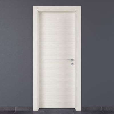 Porta da interno battente Hollow bianco matrix 60 x H 210 cm sx