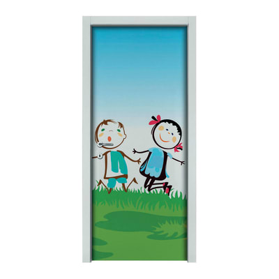 Porta da interno battente Junior 80 x H 210 cm sx