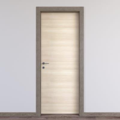 Porta da interno battente Mixage grey grano 60 x H 210 cm reversibile