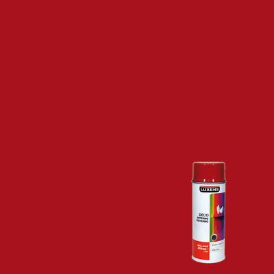 Smalto spray Deco Luxens rosso fluo RAL 3000 brillante 400 ml
