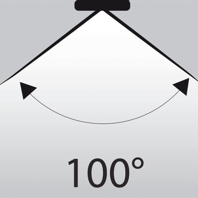 3 lampadine LED Glass GU10 =50W luce calda 100°