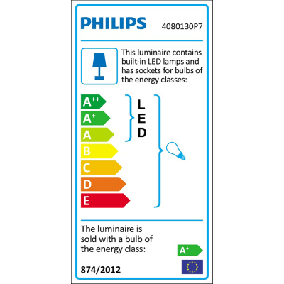 Lampada da tavolo Philips Wellness Hue nero