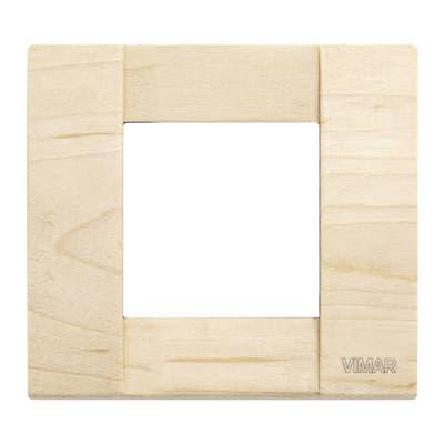Placca 2 moduli Vimar Idea acero