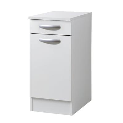 Base Spring 1 anta + 1 cassetto bianco L 40 x H 86 x P 60 cm