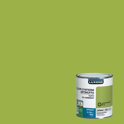Idropittura lavabile Antimuffa Verde Pistacchio 3 - 0,75 L Luxens