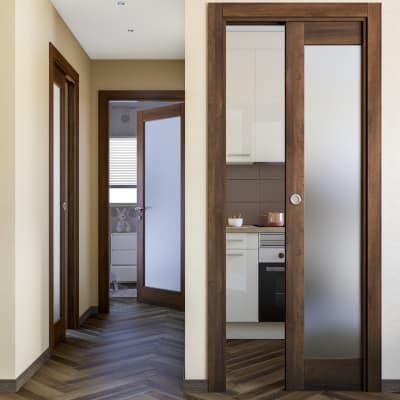 Porta da interno battente Vei noce 60 x H 210 cm dx