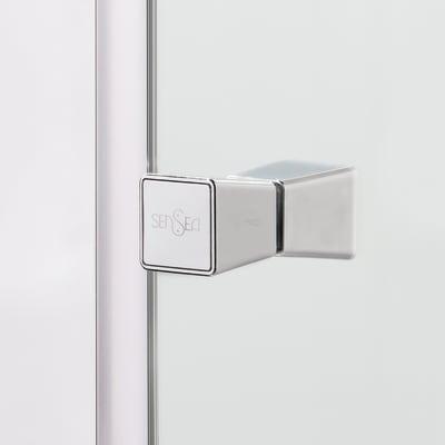 Doccia con porta scorrevole e lato fisso Dado 138 - 140 x 77.5 - 79 cm, H 185 cm cristallo 5 mm trasparente/silver