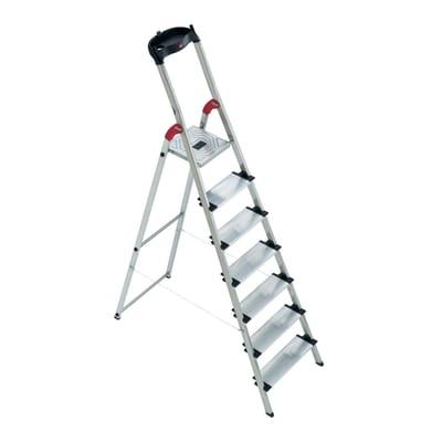 Scala domestica in alluminio 7 gradini hailo xxl prezzi e for Scale alluminio leroy merlin