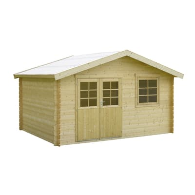 casetta in legno grezzo Seppo 11,58 m², spessore 28 mm