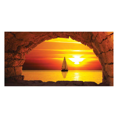 quadro su tela Finestra sul mare 90x190