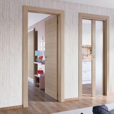 Porta da interno battente Sheraton rovere naturale 60 x H 210 cm sx