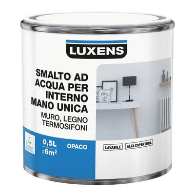 Smalto manounica Luxens all'acqua Bianco Paper 2 opaco 0.5 L