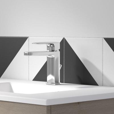 Mobile bagno Neo Line L 60 x P 48 x H 64 cm 2 cassetti rovere grigio