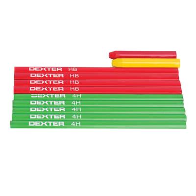 10 matite in legno