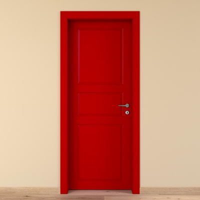Porta da interno battente New York rosso 80 x H 210 cm sx