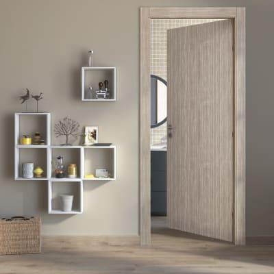 Porta da interno battente Cedar sabbia 70 x H 210 cm reversibile