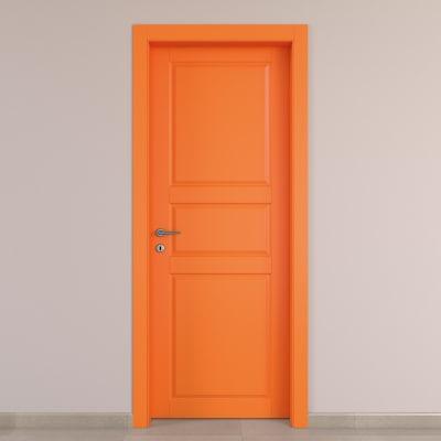 Porta da interno battente New York arancio 60 x H 210 cm dx