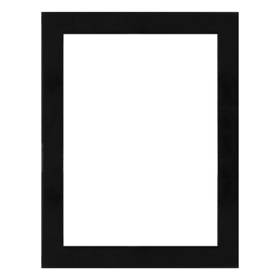Cornice Double glass nero 13 x 18 cm