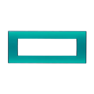 Placca 7 moduli BTicino Livinglight verde