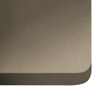 Alzatina su misura Unsui quarzo beige scuro H 6 cm
