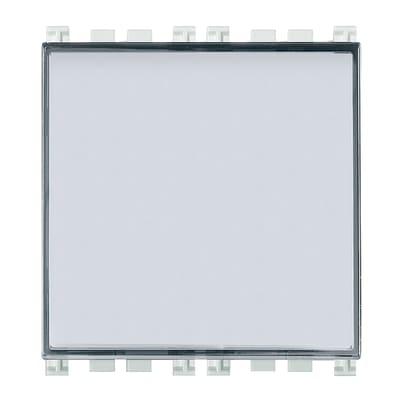 Pulsante con targhetta portanome Illuminabile Vimar Arké bianco